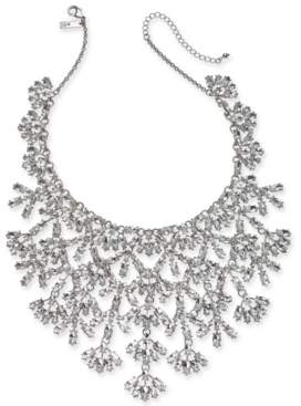 """INC International Concepts Inc Silver-Tone Marquise-Crystal Statement Necklace, 16"""" + 3"""" extender, Created For Macy's"""