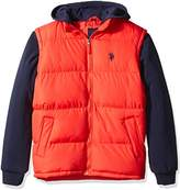 U.S. Polo Assn. Men's Basic Vest with Fleece Hood and Sleeves
