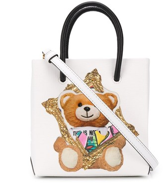 Moschino Mini Shopping Teddy Bear Print Tote