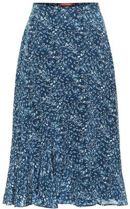 Altuzarra Clementine floral silk skirt