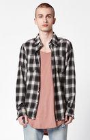 Civil Rex Decay Plaid Flannel Long Sleeve Button Up Shirt