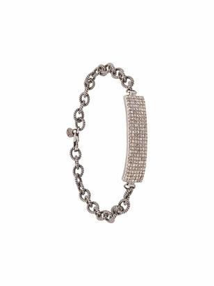 14kt white gold Angeles diamond ID bar bracelet