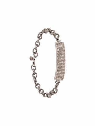 Jemma Sands 14kt white gold Angeles diamond ID bar bracelet