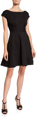 Kate Spade Fiorella Ponte Short-Sleeve Day Dress