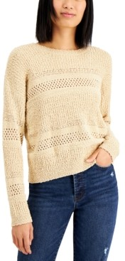 Hooked Up by IOT Juniors' Stitched Sweater