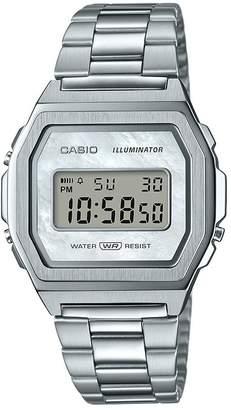 Casio Retro Silver Digital Dial Stainless Steel Bracelet Watch