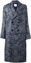 Mira Mikati 'Robot' jacquard coat