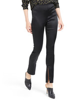 Theory Skinny Satin Leggings w/ Zipper Cuff