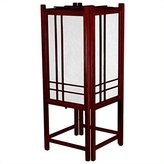 Oriental Furniture Unique Novelty Lighting, 18-Inch Double Cross Japanese Style Wood and Paper Shoji Lantern Oriental Lamp