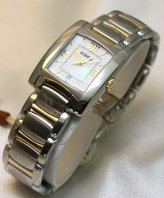 Ebel Watches Brasilia Steel and 18k Gold Two Tone Silver Dial Women's Watch