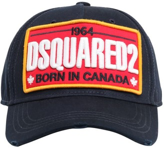 DSQUARED2 Patch Cotton Canvas Baseball Hat
