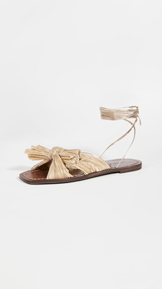 Loeffler Randall Peony Pleated Knot Wrap Sandals