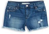 Tractr Girl's Distressed Cutoff Denim Shorts