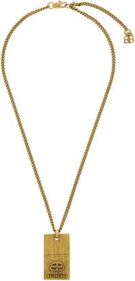 Balenciaga Gold BB Necklace