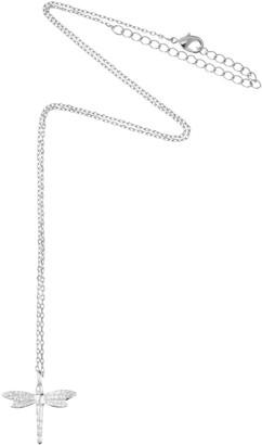 Estella Bartlett Dragonfly Pendant Necklace, Silver
