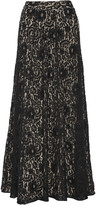 Alice + Olivia Issa embellished lace maxi skirt