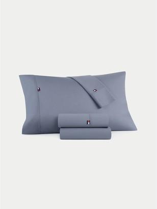 Tommy Hilfiger Signature Solid Grey Pillowcase Set