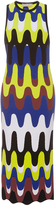 Emilio Pucci Sleeveless Retro Print Sheath Midi Dress