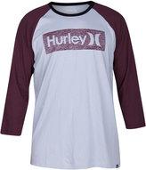 Hurley Men's One and Only Premium Graphic-Print Logo Raglan-Sleeve T-Shirt