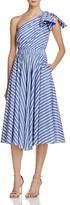 Milly Anna One-Shoulder Stripe Dress