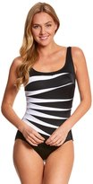 Longitude Colorblock Fan Tank One Piece Swimsuit 8150528