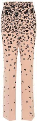 Bottega Veneta Butterfly-printed wide-leg trousers
