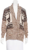 Etoile Isabel Marant Alpaca and Wool-Blend Patterned Cardigan