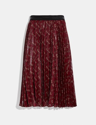 Coach Lunar New Year Horse And Carriage Print Pleated Skirt