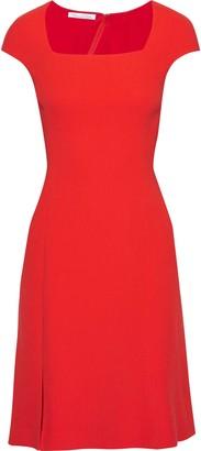 Oscar de la Renta Split-front Wool-crepe Dress