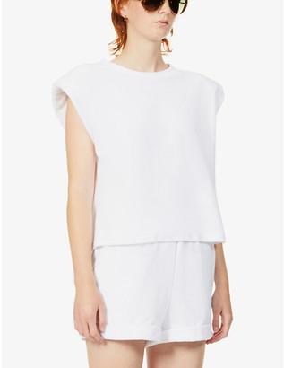 Prevu Delos sleeveless cotton-blend towelling T-shirt