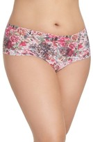 Hanky Panky Plus Size Women's Flora Retro Thong