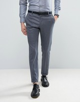 Selected Slim Suit Pants In Birdseye