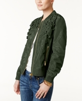 MICHAEL Michael Kors Petite Embellished Bomber Jacket