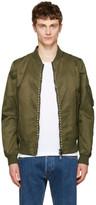 Valentino Green 'Rockstud Untitled' 15 Bomber Jacket