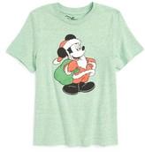 JEM Boy's Mickey Mouse Santa Suit Graphic T-Shirt