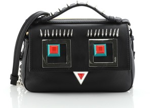 Fendi Hypnoteyes Double Baguette Crossbody Bag Leather Micro