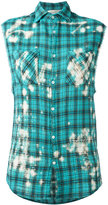 Faith Connexion plaid sleeveless shirt - women - Cotton/Polyester - M