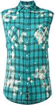 Faith Connexion plaid sleeveless shirt - women - Cotton/Polyester - S