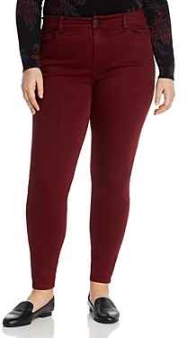 Liverpool Los Angeles Plus Abby Skinny Jeans in Oxblood