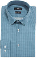 BOSS Men's Travel Micro-Diamond Dress Shirt