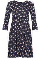 Dorothy Perkins Womens *Izabel London Navy Floral Print Skater Dress- Navy