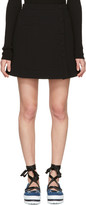 Carven Black Button Miniskirt