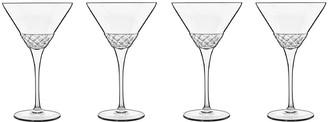 Luigi Bormioli Roma 4 Piece 1960 Martini Glass Set 220ml