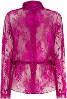 Balenciaga Lavalliere dentelle lace blouse
