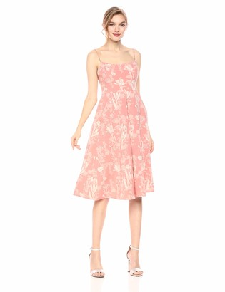 BCBGeneration Women's Strappy Floral Midi Dress
