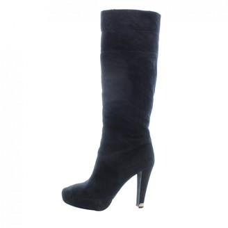 Louis Vuitton Black Suede Boots