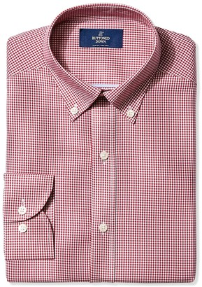 Buttoned Down Men's Slim Fit Button-Collar Non-Iron Dress Shirt