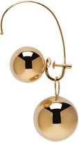 Maison Margiela Gold Hoop Sphere Ear Cuff