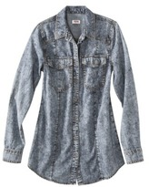 Mossimo Juniors Button Down Denim Tunic - Assorted Washes