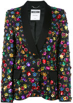 Moschino floral embroidered blazer - women - Cotton/Rayon - 42